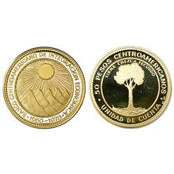 Central American States, proof 50 pesos medallic coinage, 1970, 20th anniversary of ODECA, in origin
