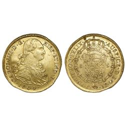 Popayan, Colombia, bust 8 escudos, Charles IV, 1804JF.