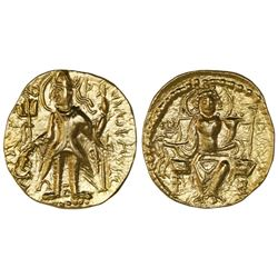 India, Kushan Empire, gold dinar, (ca. 275-300 AD), Vasu Deva II.
