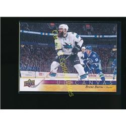 17-18 Upper Deck Canvas #C69 Brent Burns