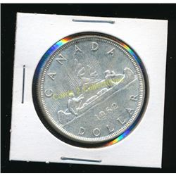 1962 Canadian Silver $1 Coin