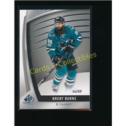 2017-18 SP Game Used #65 Brent Burns 54/88