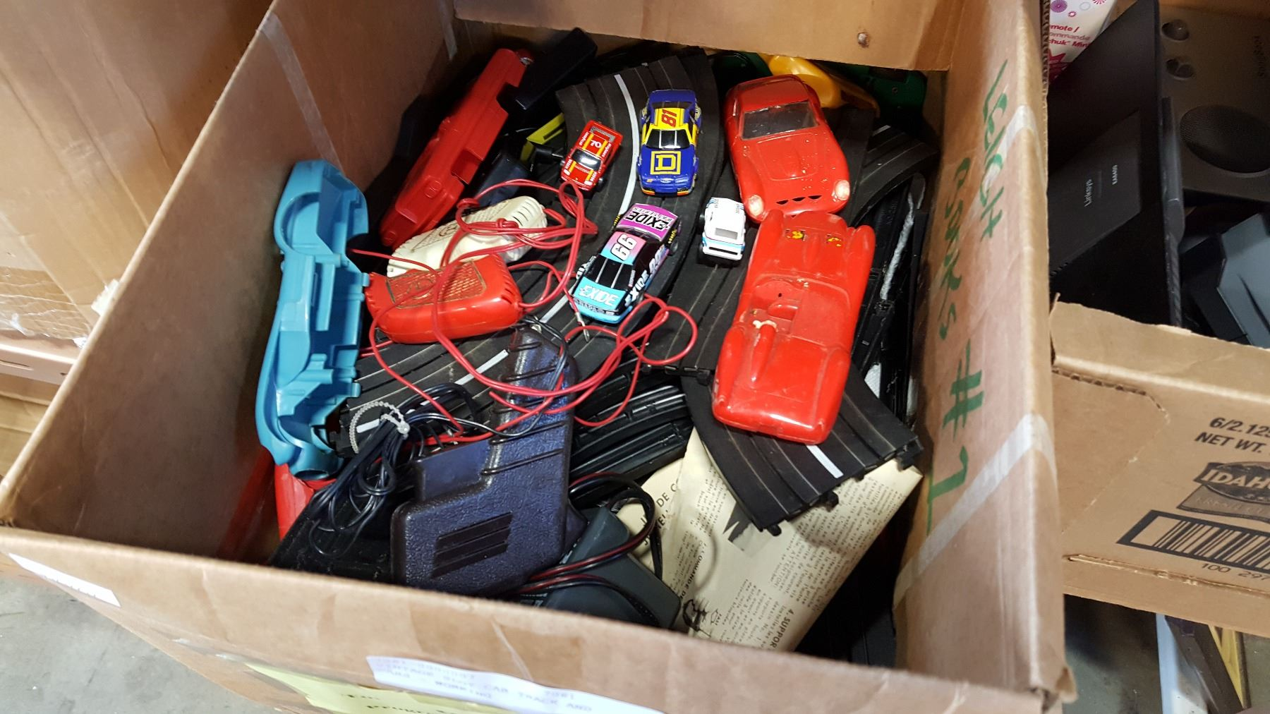 Vintage Slot Car Track And Cars Working Wiring Image 1