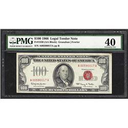 1966 $100 Legal Tender Note Fr.1550 PMG Extremely Fine 40