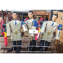 THREE GET SMART ACTION FIGURES