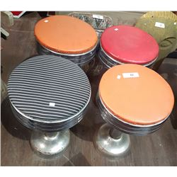 FOUR VINTAGE SODA SHOP STOOLS