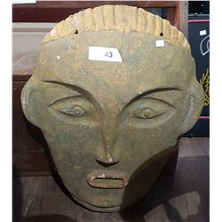 TERRACOTTA  TRIBAL FACE