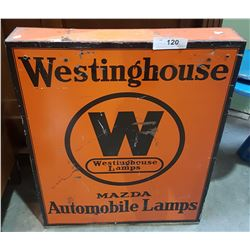VINTAGE WESTINGHOUSE MAZDA AUTO LAMP COUNTER DISPLAY