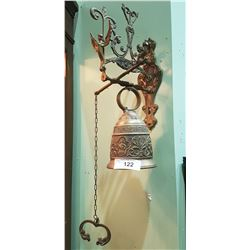 VINTAGE BRASS WALL BELL