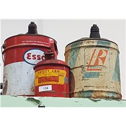 VINTAGE ESSO, ROYAL LITE, & SAFETY CAN