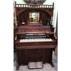 ANTIQUE ORNATE PUMP ORGAN