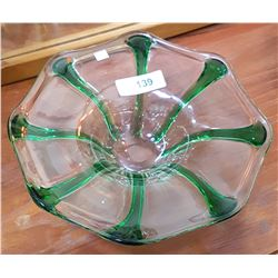 VINTAGE ART GLASS CENTREPIECE
