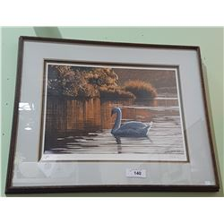 SIGNED LTD ED. PRINT OF A SWAN