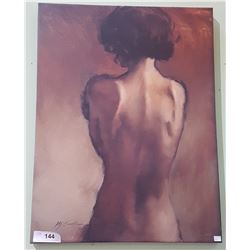 IMPRESSIONIST SEMI-NUDE OIL ON CANVAS SIGNED