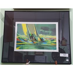 SIGNED LTD ED PRINT OF SAILBOATS