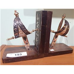 SET OF SWORD BOOKENDS
