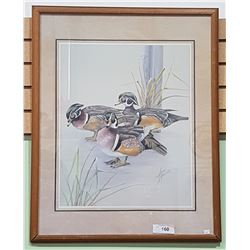 FRAMED DUCK PRINT SIGNED