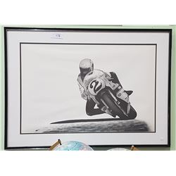 SIGNED LTD ED. RACING MOTORCYCLE PRINT