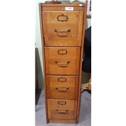 ANTIQUE OAK FILER