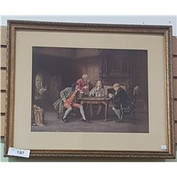 FRAMED PRINT OF THE GENTRY PLAYING CARDS