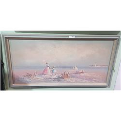 FRAMED OIL ON CANVAS SIGNED J. MILLER