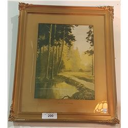 GILT FRAMED PRINT TITLED AUTUMN SPLENDOURS