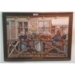 SINGER SEWING MACHINES FRAMED PRINT ON BOARD