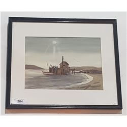 FRAMED WATERCOLOUR SIGNED LV SHEMET