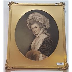 VINTAGE GILT FRAMED PRINT ON BOARD