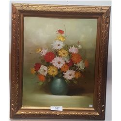 GILT FRAMED OIL ON CANVAS SIGNED RUSH