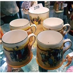 LOT OF 5 ROYAL DOULTON MUGS