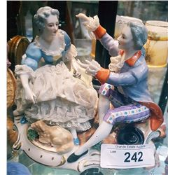 DRESDEN COURTING COUPLE FIGURINE