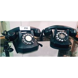 TWO EARLY BAKELITE ROTARY TELEPHONES