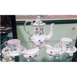 7PC HAMMERSLEY DOGWOOD BLOSSOM ENGLISH BONE CHINA TEASET
