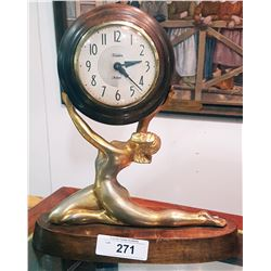ART DECO 8 DAY WIND UP CLOCK