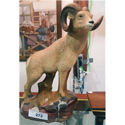 CERAMIC BIG HORN SHEEP FIGURINE