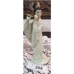ASIAN PORCELAIN GEISHA FIGURINE