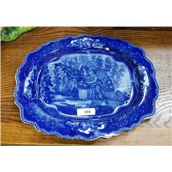 GRAND ROYAL KENT LTD ENGLAND FLOW BLUE PLATTER