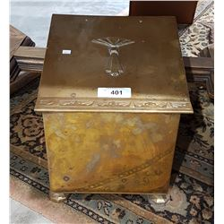 ANTIQUE BRASS COAL BOX