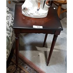 SMALL MAHOGANY ACCENT TABLE