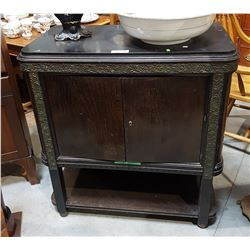 ANTIQUE SLATE TOPPED CABINET