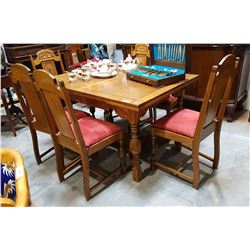 7 PC VINTAGE OAK DINING SET
