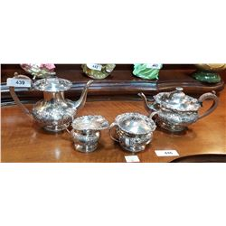 FOUR PC SILVERPLATE TEA SERVICE