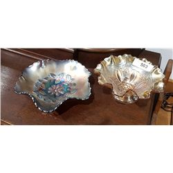 TWO CARNIVAL GLASS BOWLS