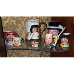 LOT OF 7 ENGLISH CHARACTER MUGS
