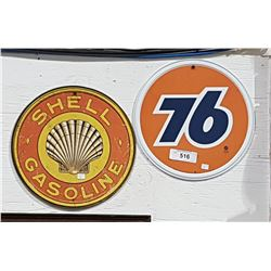 SHELL GASOLINE & 76 REPRODUCTION SIGNS