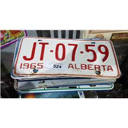 APPROX 20 VINTAGE LICENSE PLATES