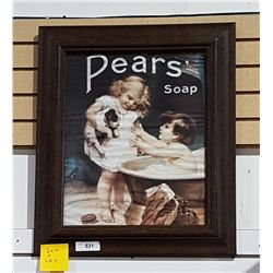 FRAMED PEAR'S SOAP PRINT