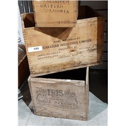 TWO VINTAGE WOODEN BOXES