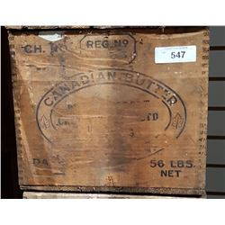VINTAGE CANADIAN BUTTER BOX